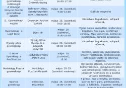 Gyereknapi programok Debrecenben és környékén