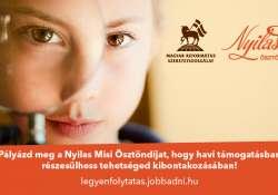 Pályázz a Nyilas Misi Ösztöndíjra, hogy folytathasd, amiben tehetséges vagy!