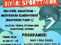 Debreceni Delfinek úszó tábora