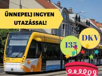 Az utasokkal ünnepel a DKV október 2-án!