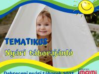 Debreceni és környéki nyári táborok tematikus ajánló