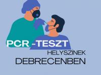 PCR teszt helyszínek Debrecenben