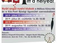 Nyári ANGOL nyelvi klubok