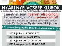 Nyári nyelvcsere klubok