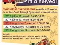 Nyári OLASZ nyelvi klubok