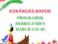 Kokárdás napok - Debreceni programok március 13-16.