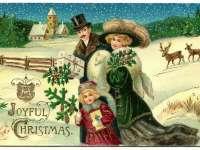 Karácsony régi képeslapokon