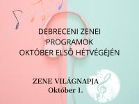 Zenés programok a Zene világnapján Debrecenben