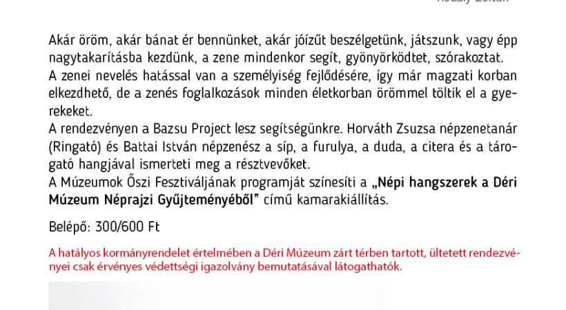 Zene világnapja programok Debrecen