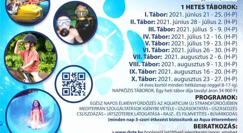 DUTE úszótábor 2021