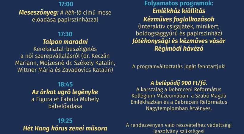 Szabó Magda Emlékház - Múzeumok Éjszakája 2021 Debrecen programajánló